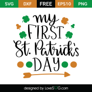 Free SVG cut file - My First St-Patrick's Day