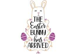 Free SVG cut file - The Easter bunny has arrived