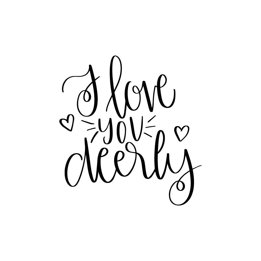 Download I love you Deerly - Lovesvg.com