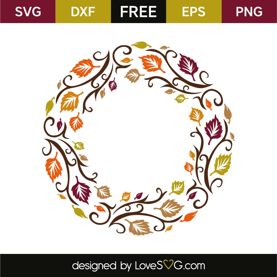 Download Autumn monogram frame | Lovesvg.com