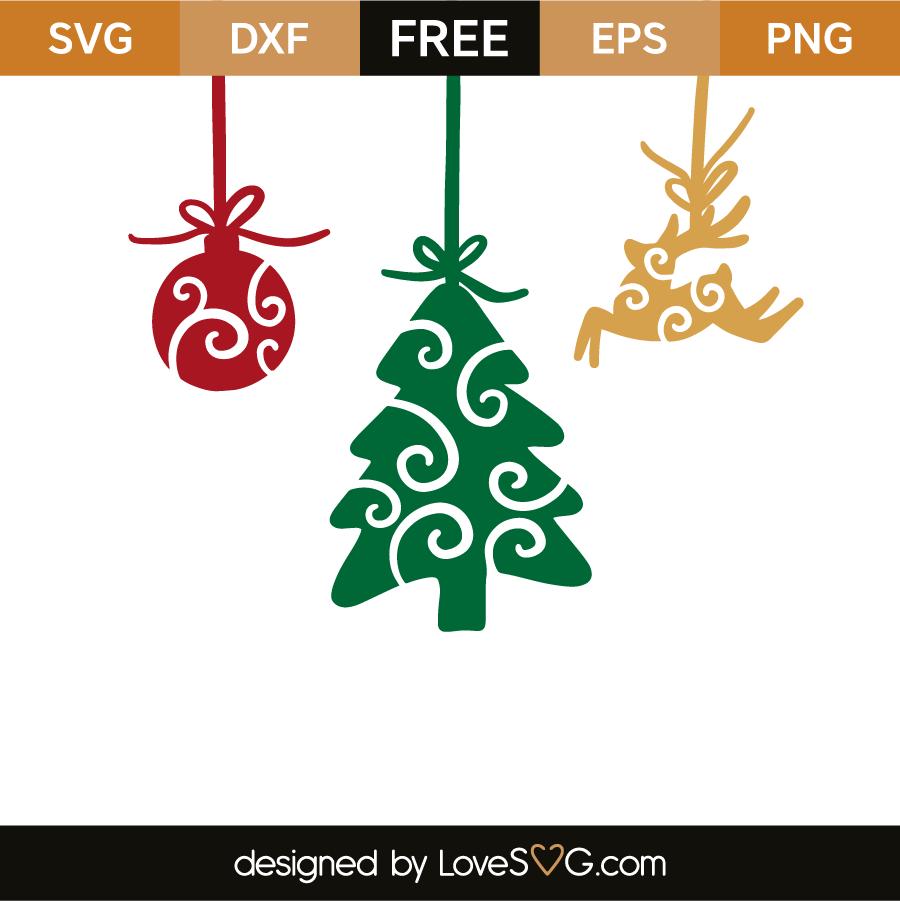 Download Christmas ornaments | Lovesvg.com