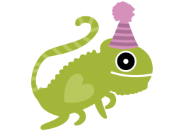 Birthday lizard
