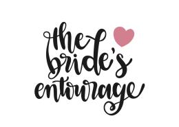 The bride's entourage