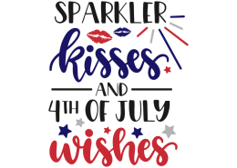 Sparkler kisses and 4th of july wishes
