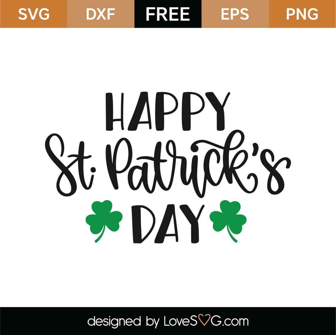 Download Free Happy St Patrick's Day SVG Cut File | Lovesvg.com