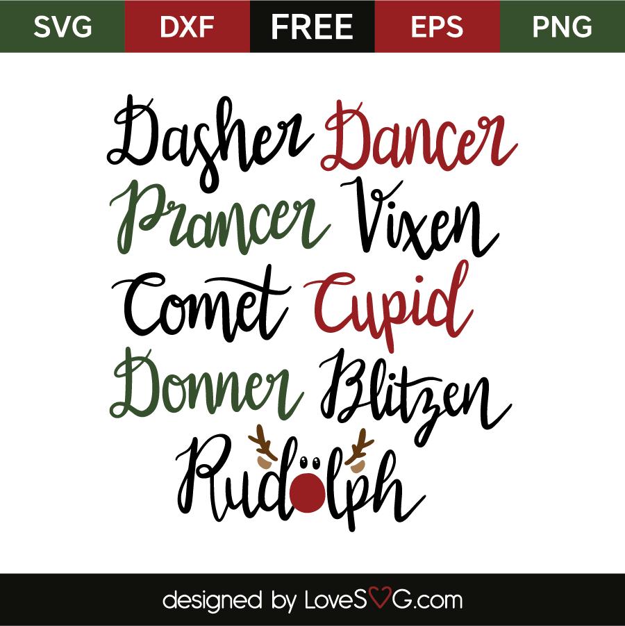 Download Reindeer Names - Lovesvg.com