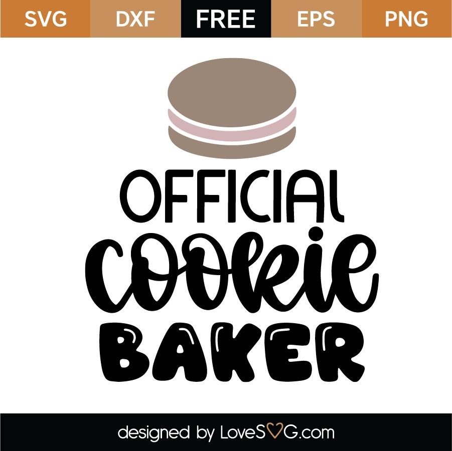 Download Official Cookie Baker SVG Cut File - Lovesvg.com