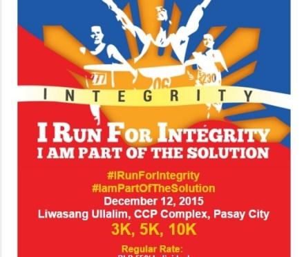 """Run Teacher Run: Run at """"I Run For Integrity"""" and Be Part of the Solution"""
