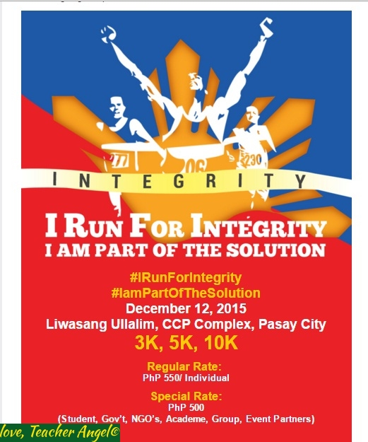 "Run Teacher Run: Run at ""I Run For Integrity"" and Be Part of the Solution"