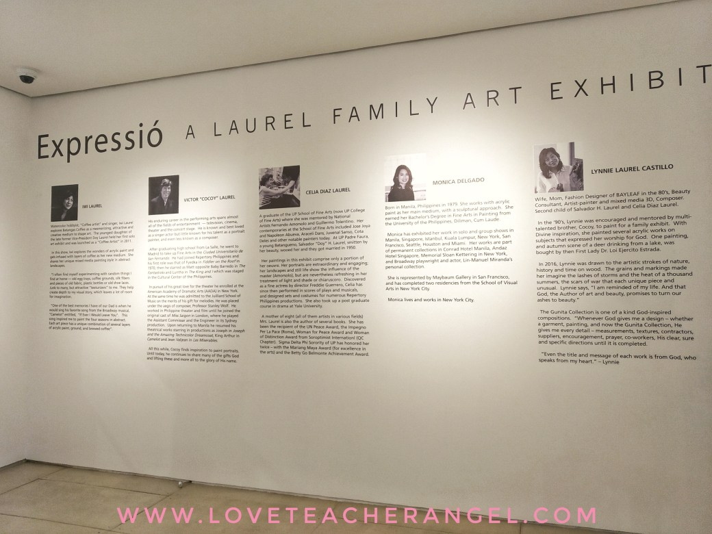 Teacher Insights: Leon Gallery & Laurel Foundation Celebrate 91st Birth Anniversary of VP Doy Laurel w/ ESPRESSIÓ: A LAUREL FAMILY EXHIBIT