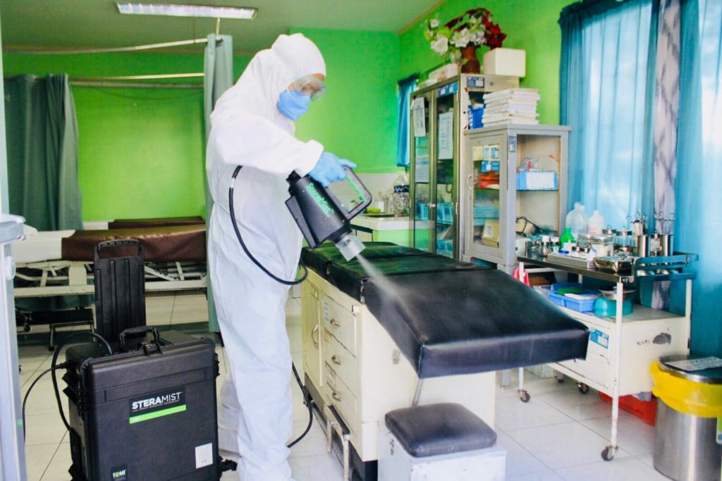 Teacher Insights: PLDT sponsors high-level decontamination services  to RITM and NKTI