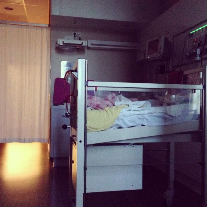 Laatste nachtje in het ziekenhuisbedje!