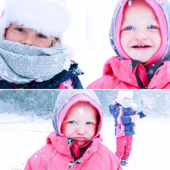 's Middags zoeken we de echte sneeuw op. Leuk!!!