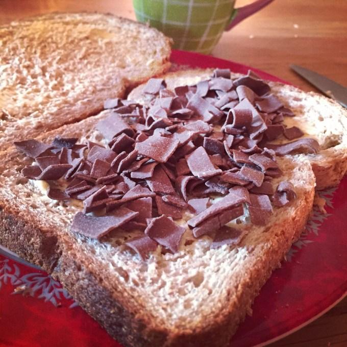 Mmm een bruine boterham met vlokken!