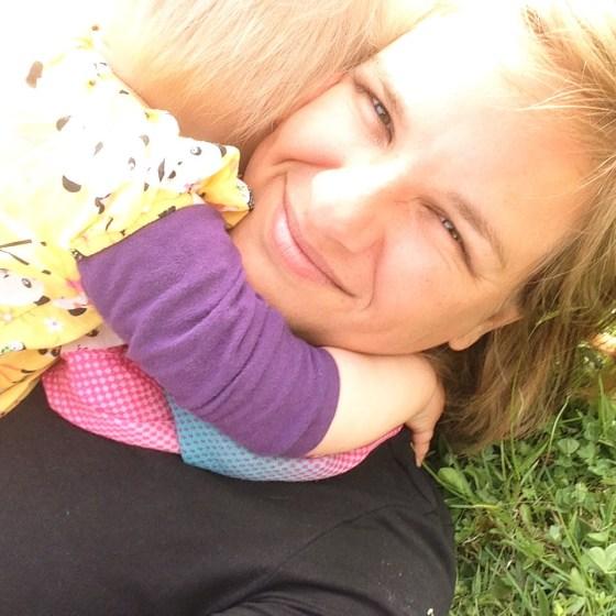 Dit was het moment dat Liza op me af kwam rennen en me plat ging knuffelen. Heerlijk!