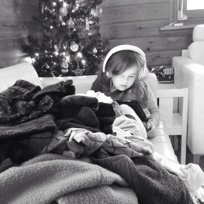 Onze tweede kerstdag dit jaar... Wassen en opruimen!
