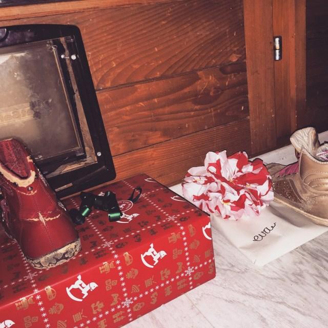 Zondagmiddag hadden we de intocht van Sinterklaas gekeken op Uitzending Gemist, dus 's avonds moest de schoen gezet worden!