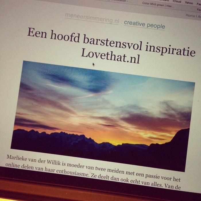 Maandag staat er ook een mooi interview met mij online. Check het hier op MeneerSimmering.nl