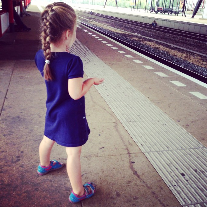 Voor de eerste keer met de trein in NL, wel even spannend!