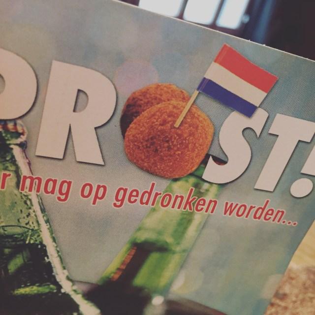 Toch fijn van die verjaardagskaarten met bitterballen! Gelukkig volgende week in Nederland en gaan we zeker weten bitterballen eten!