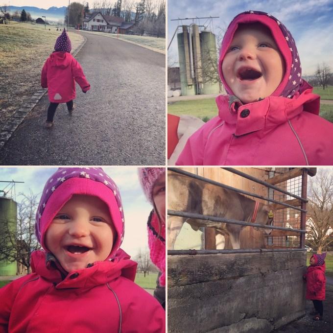 Vrijdag trotseren Liza en ik de kou. Even naar buiten!
