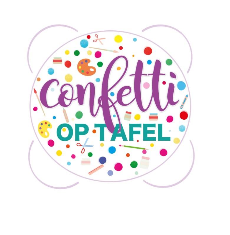 confetti op tafel - logo door Marlieke.com