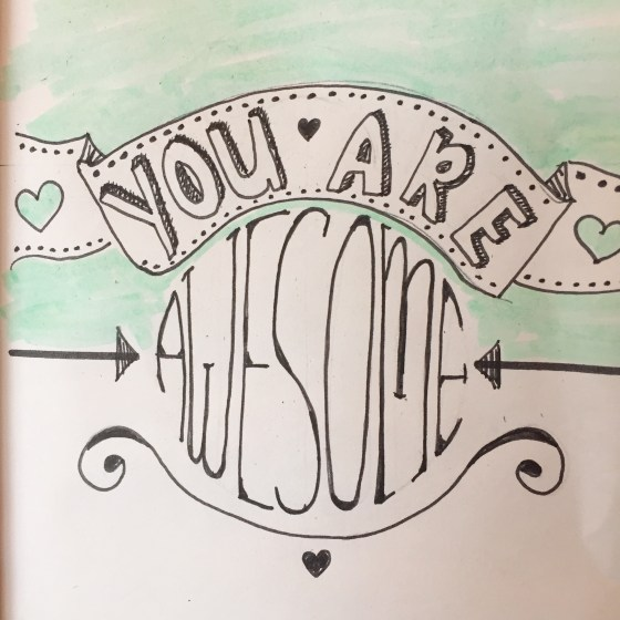 You are awesome, de juiste tekst
