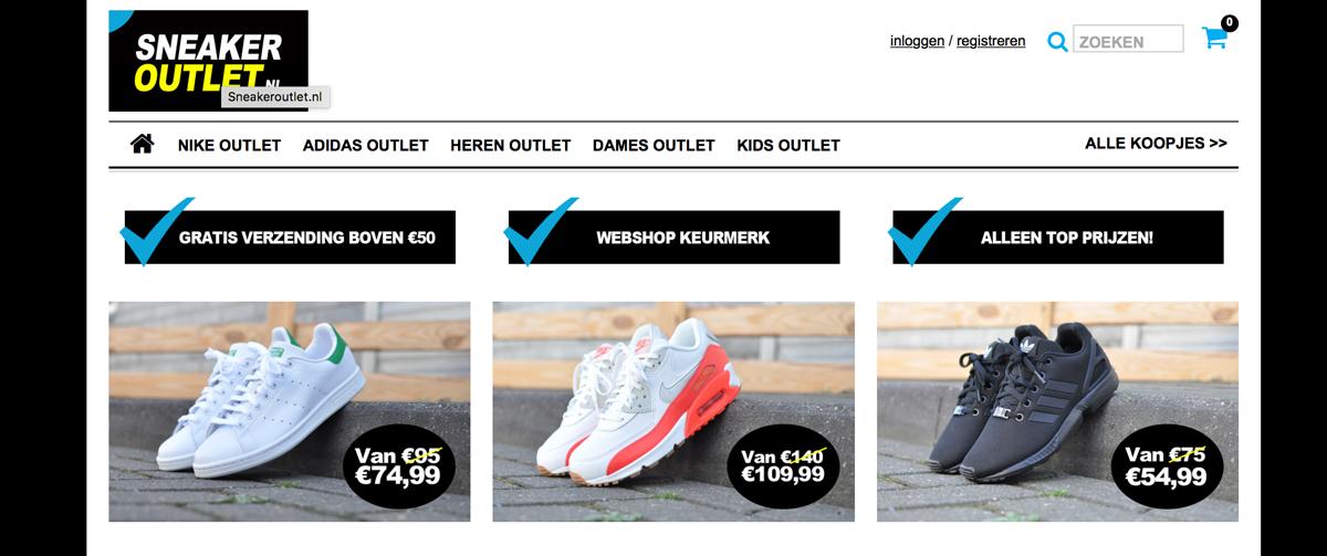 Nieuwe sneakers via Sneaker Outlet