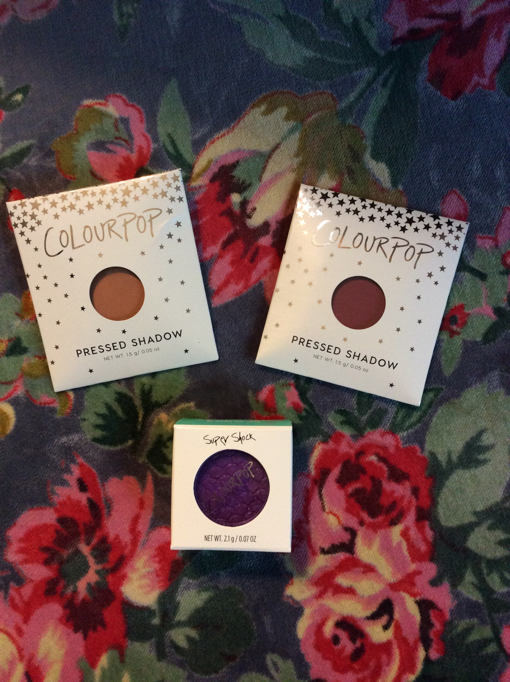 Colourpop's Pressed Shadows +Wrong Super Shock