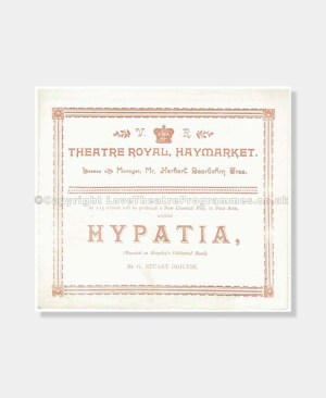 1893 Theatre Royal Haymarket