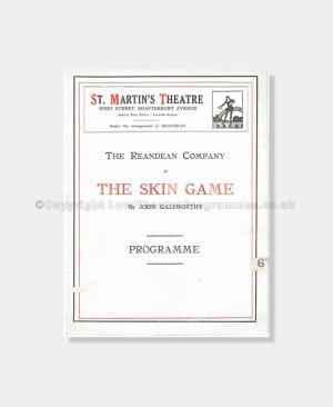 1920 St Martin's Theatre The Skin Game