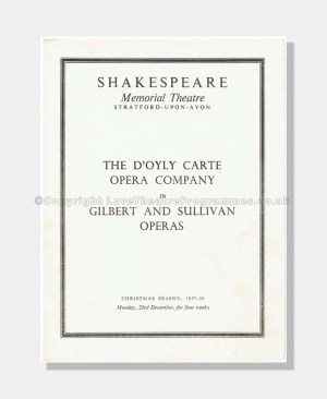 1958 RUDDIGORE Shakespeare Memorial