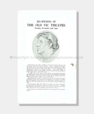 1950 TWELFTH NIGHT Old Vic