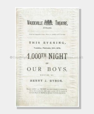 1878 OUR BOYS Vaudeville Theatre