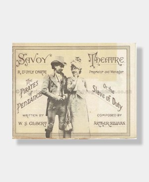 1889 THE PIRATES OF PENZANCE Savoy Theatre D'Oyly Carte