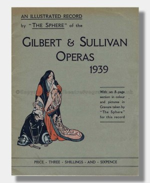 1939 SPHERE ILLUSTRATED RECORD Gilbert and Sullivan