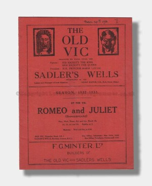 1932 ROMEO & JULIET The Old Vic_Sadler's Wells