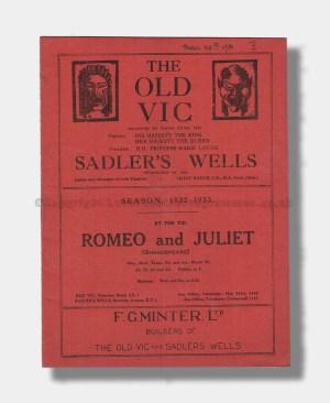 1932 ROMEO & JULIET The Old Vic_Sadler's Wells