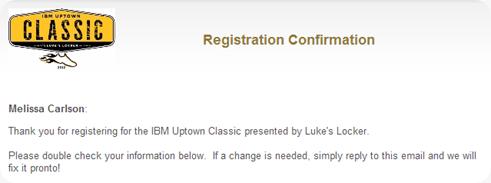 IBM Race Registration