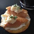Smoled trout on a Breton cracker