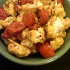 roasted cauliflower with cumin and tomatoes