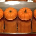 mini pumpkins, mini pumpkin centerpiece, halloween edible centerpiece