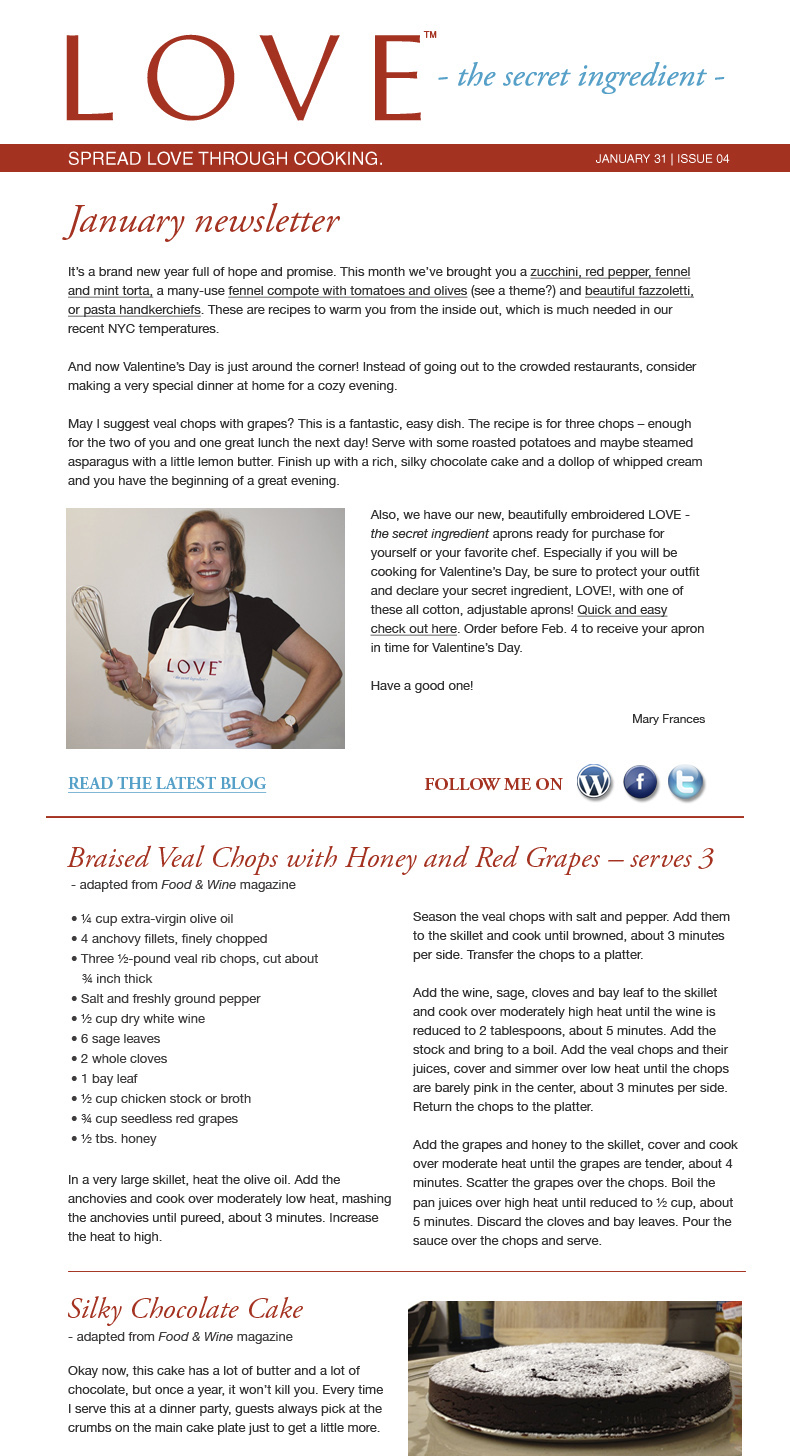 Great Valentine's Day and Super Bowl recipes - LOVE-the secret