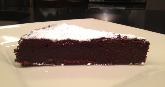 Silky chcocolate cake piece - yummy!