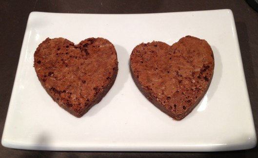 Valentine's Day brownie hearts from Tribeca Treats