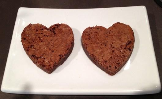 Valentine's Day brownie hearts from Tribeca Treats