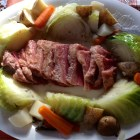 Corned beef and cabbage with potatoes, carrots and turnips on a platter from Mar 17, 2013.