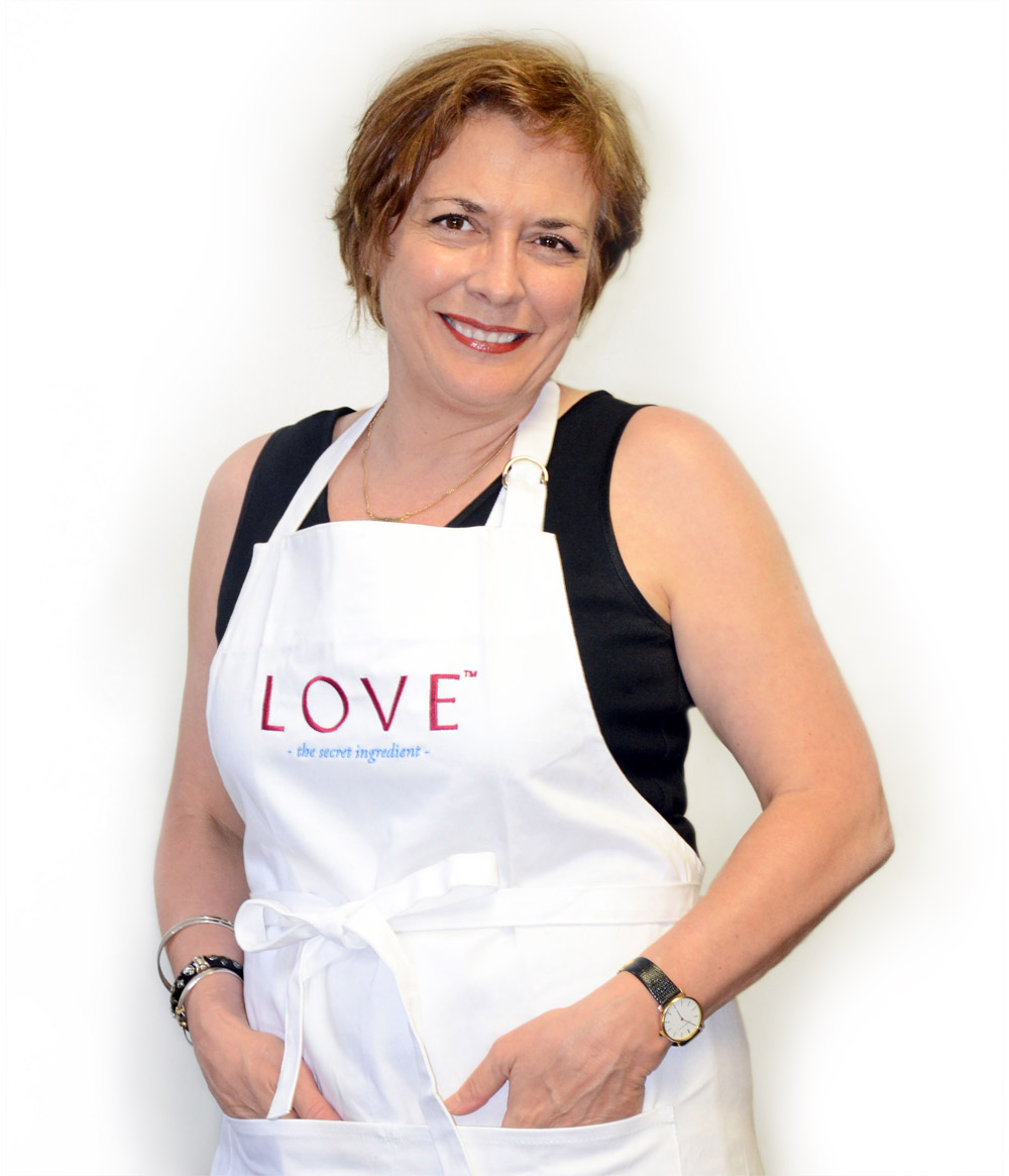 Mary in apron