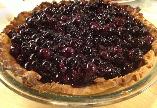 Blueberry pie whole pie from Sept 3, 2013
