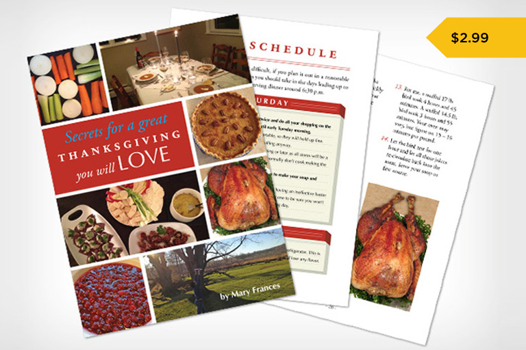 Secrets for a Great Thanksgiving You Will LOVE cookbook.